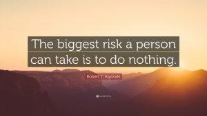 a quotes about risking from robert kiyosaki -الگو های سرمایهگذاری