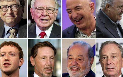 لیست ثروتمندترین افراد دنیا