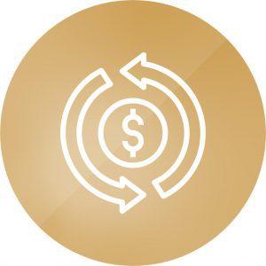 تصویر یک دایره طلایی نرخ دلار، ارز و سکه روزانه